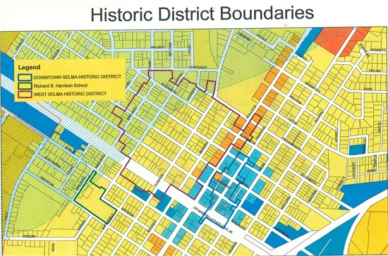 Selma Historic Boundaries Map